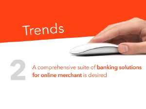 An example of slide design prepared for a leading bank's presentation